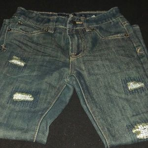 Barely worn Lucky Brand distressed jeans